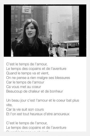 Francois Hardy Le Temps De L'amour love this song