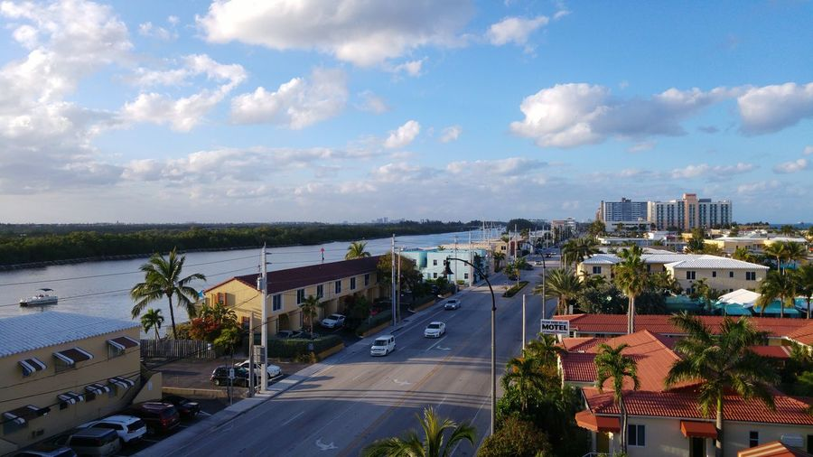 Broward Beach Boulevard Florida Relaxing Cityscapes Top View Road Trip Photography Vacation Tourism Scenery