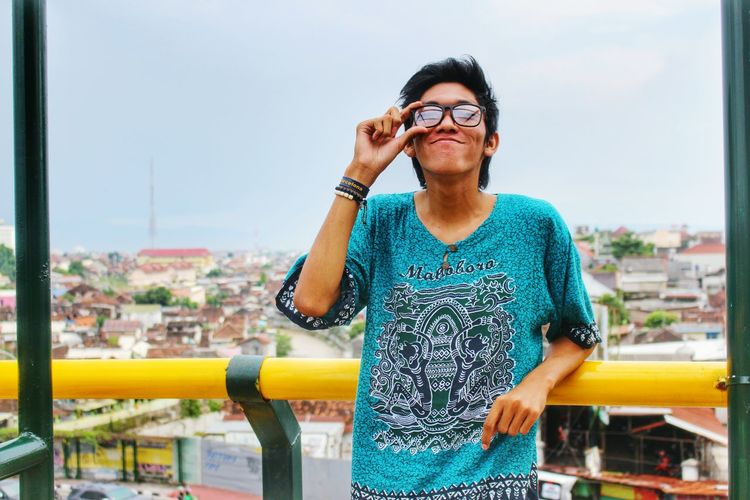 Lifestyles Casual Clothing Person Rooftop Parking Area Glasses Smile Yogyakarta First Eyeem Photo