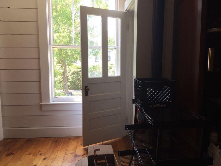 Door Old Door Open Door White Door White Wood Painted Wood Light And Shadow Light Through The Window Window Sunlight Through The Window Warm Light Wood Floor Pine Floor Rustic Interior Soft Light