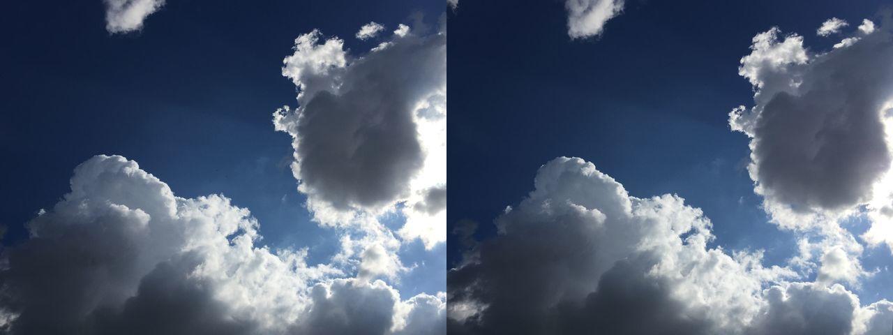3D Cloud CIELFIE 3D Ciel Et Nuages Cross Eyes STEREOGRAMME Relief Clouds And Sky Clouds Ciel Sky