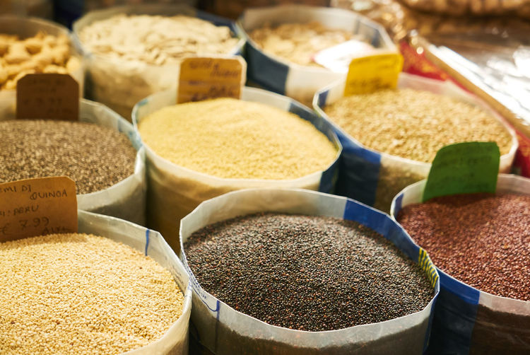 Food And Drink Choice Spice Variation Food Market Market Stall Freshness Ingredient No People Still Life For Sale Retail  Close-up In A Row High Angle View Raw Food Abundance Container Arrangement Retail Display Sale Herb
