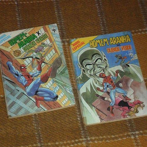 Marvel Especial 1 e 2 - Homem-Aranha X Duende Verde Spiderman Greenglobin Homemaranha Duendeverde editoraabril maryjane watsonportela johnromita classiccomics quadrinhosclassicos quadrinhos comics marvecomics