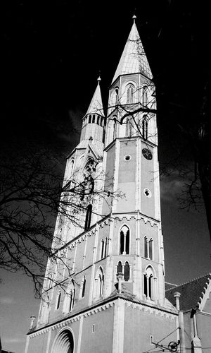 Saint Catherine's in Brunswick Church Steeple Braunschweig Brunswick Gothic Church Gothic Churches In Germany Gothic Architecture Black And White Photography