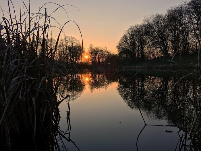 Hidden Gems  ShotOnIphone IPhoneography Shotoniphone6splus Iphoneonly Travel Wanderlust Reflection Symmetry Silhouette Lake Evening Dusk Sun Sunset