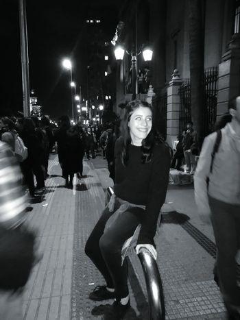 Monochrome Photography Casualphotography Woman Street City Night Person NiUnaMenos! Bibliotecanacional