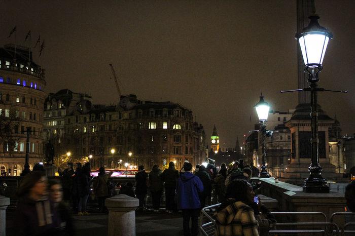 Night Illuminated City Architecture Public Square London Lifestyle Big Ben