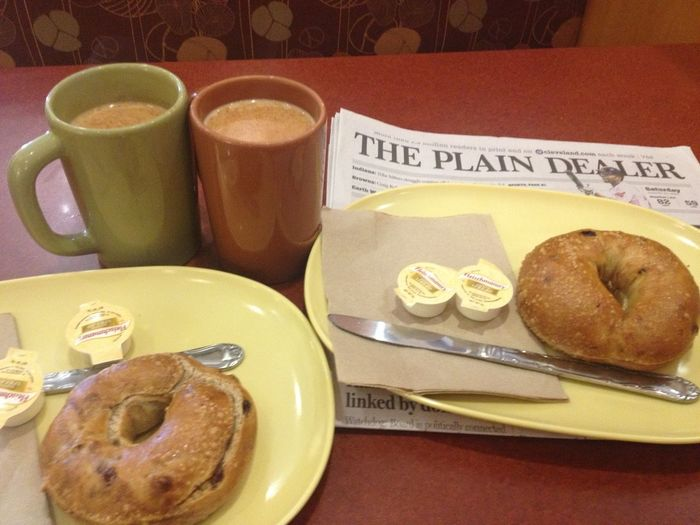 G Good Morning! Bagels and Coffee with our Plain Dealer