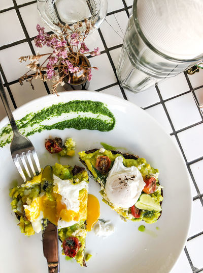 Avocado toast Avocado Toast  Eating Hipster Cafe Poached Eggs  Healthy Breakfast Clean Eating Healthy Eating Food And Drink Freshness Food Plate Wellbeing Breakfast At The Beach Vegetable Meal Eating Utensil Breakfast Vegetarian Food Avocado