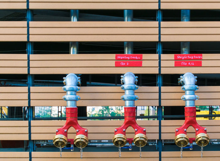 Berlin Photography Hydrant In A Row Secured Sign Stand Pipe Close-up Day Fire Fire Plug No People Outdoors Pipe Pipes Red