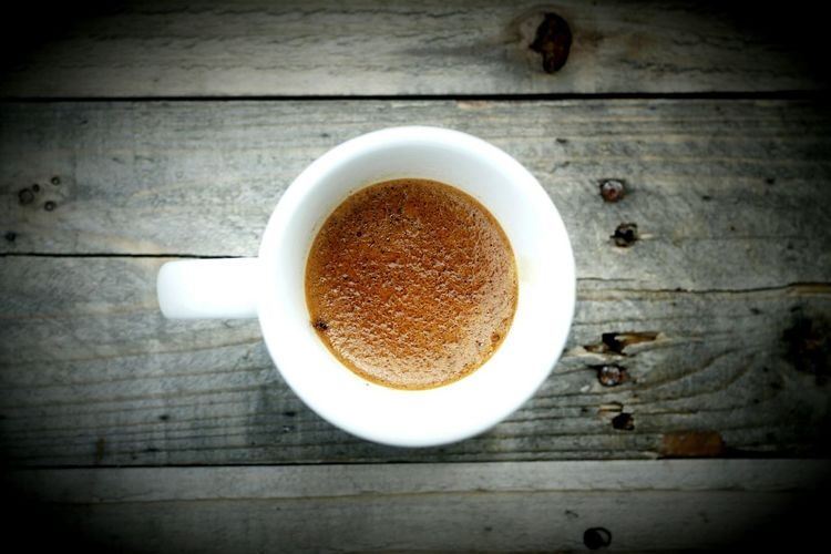 Espresso time Food And Drink Drink Coffee - Drink High Angle View Coffee Cup Ground Coffee Espresso Day Freshness