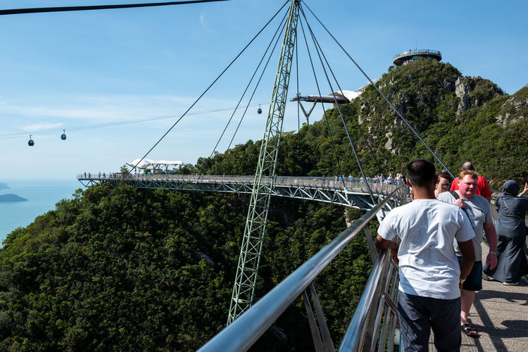 Langkawi Sky Built Structure Bridge Real People Architecture Nature Rear View Connection Plant Tree Men Bridge - Man Made Structure Transportation Leisure Activity Day Lifestyles People Casual Clothing Travel Mountain Outdoors Footbridge Skybridge