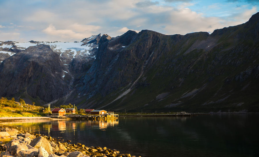 Grøtfjorden Beauty In Nature Clacier Cloud - Sky Day Dramatic Landscape Landscape Mountain No People Outdoors Reflection Scenics Seascape Sky Water