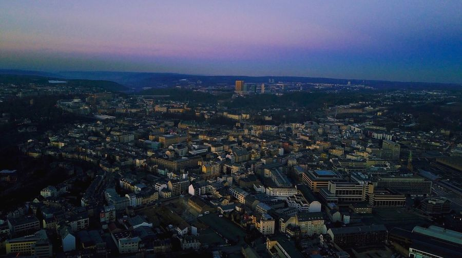 Architecture Building Exterior Cityscape City Built Structure Sky Residential Building Crowded Outdoors Day Settlement Sunset Purple Purplesky Sonnenuntergang Drone  Dji Djimavic