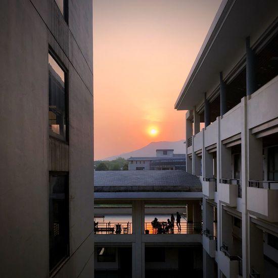 Architecture Sunset Built Structure Sky Building Exterior Orange Color Building