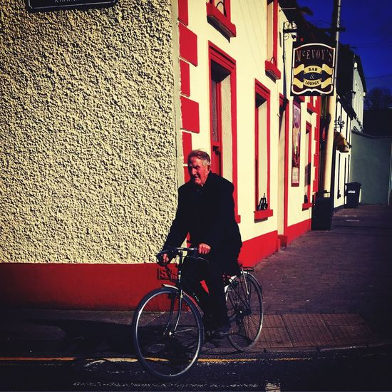 Bicycle Mode Of Transport Outdoors Cycling One Man Only Athy Ireland The Street Photographer - 2017 EyeEm Awards