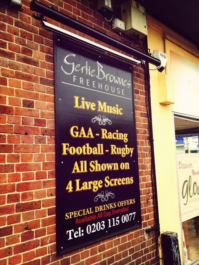 Signage for gertie browns