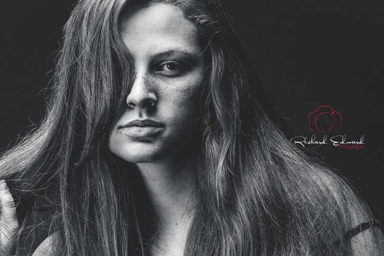 Rebel Rebel, You've Torn Your Dress Blackandwhite Black And White Blackandwhite Photography Portrait Of A Woman Portrait Looking At Camera Real People One Person Headshot Front View Lifestyles