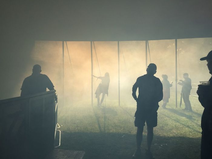 Festival Music Gig Live Music Free Spirit Dusk Dusty Sun Crowd Silhouette Dancing Smoke Mist