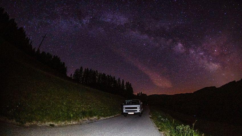 Night Star - Space Milky Way Car Astronomy Galaxy Space Buslife VwT3 EyeEmNewHere