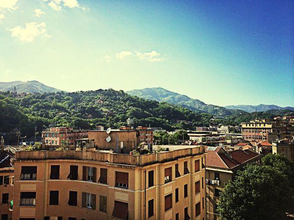 Enjoying The Sun Sky Mountain Genova