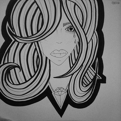 +LOVEHURTS+ Pixiiart Artbypixii Drawing Zeichnen malen blackwhite girlielike hearteye lovehurts