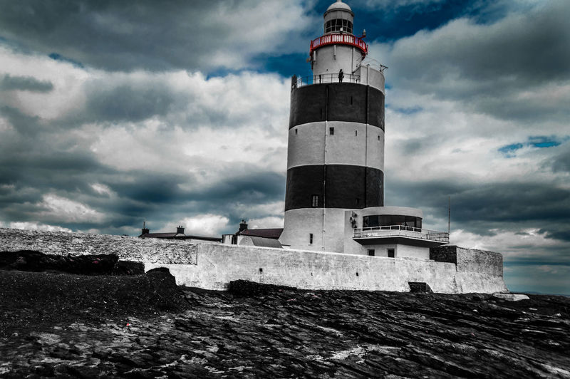 Coastal_collection Dark Clouds Hook Head, Ireland Hook Lighthouse Ireland🍀 Lighthouse Rocks Selective Color Wexford