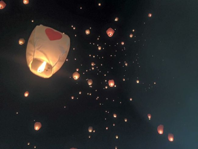 Amazing Desiderio Bye Bye Goodnight Sky Love Lanterne Lanternfestival Lantern Romantic Romantic Sky Night Illuminated Traditional Festival