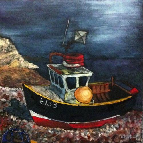The Fishing Boat by Sam Avert ArtWork