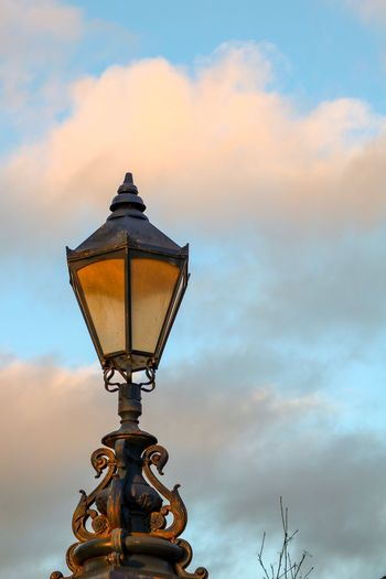 Sky Cloud - Sky Lighting Equipment Low Angle View Street Light Street Nature Orange Color Day Gas Light Ornate