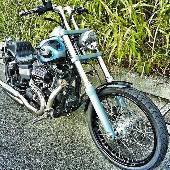 Harley Harleydavidson Customed InstaMotorcycles Chopper Long_fork Motorcycle Fireballs RideOut ScreamingEagle ハーレー ハーレーダビッドソン Fxwg Wideglide ワイドグライド Bobber Garagebuilt Kustomkuluture Chopcult RideOut Vintage Custombike Bikelife Blueskyheaven ブルースカイヘブン