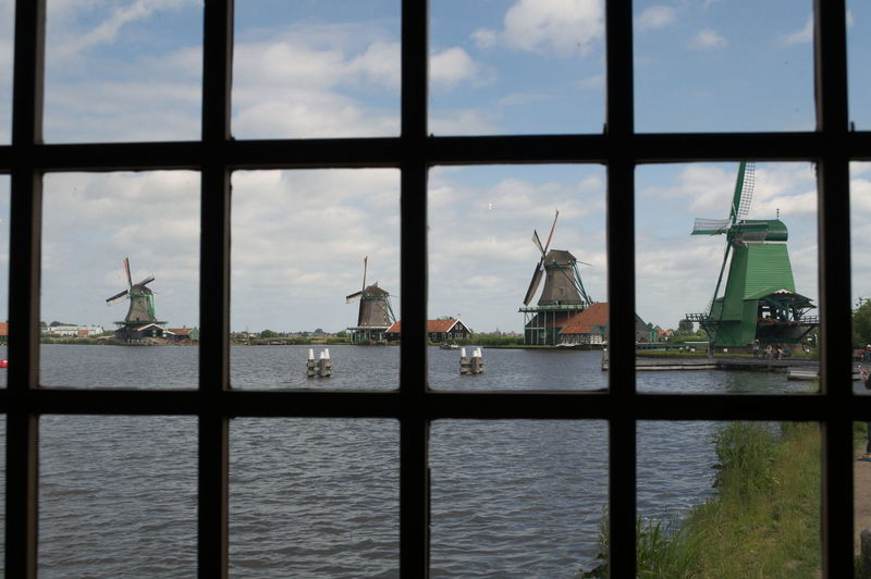 Folklore Museum Skanzen Technology Travel Destinations Windmills Window View Zaanse Schans