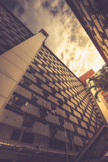 Facades of yesteryear - Housing apartments Public Residential Housing High Rise Apartment Architecture Building Exterior Built Structure Cloud - Sky Housing Development Low Angle View No People Outdoors The Architect - 2018 EyeEm Awards The Architect - 2018 EyeEm Awards