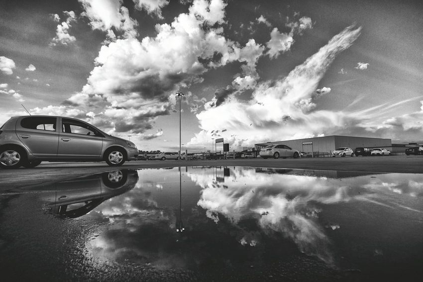 Parking on a wet roof. Clouds Clouds And Sky Cloudporn Canon Canberra Cbr