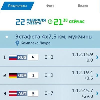 2014 -02-22, Олимпиада сочи2014 . Ааааааа!!!! золото !!! Биатлон. Эстафета!!! Мужики!!! Молодцы!!!/ Olympiad Sochi2014. Biathlon!!! Supermens!!! Russia gold medal!!!