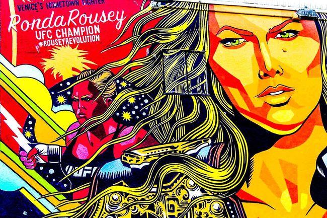 Venice Beach Wall Art Graffiti Art RondaRousey Nikon Nikons7000