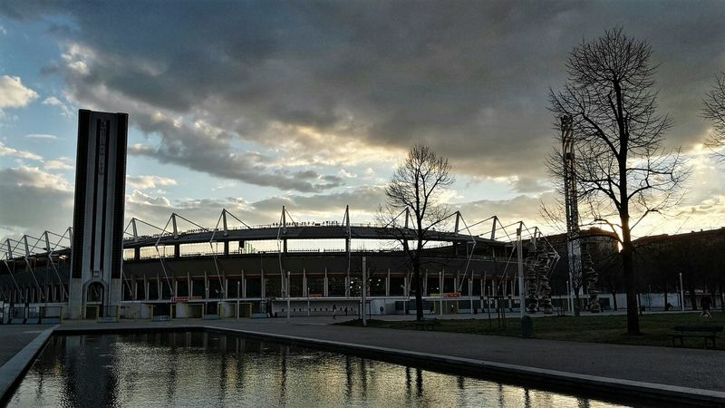 Learn & Shoot: After Dark Turin Olimpic Stadium Sunset Reflections Reflections In The Water From My Point Of View My City