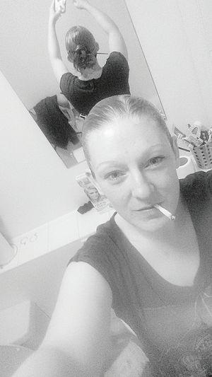 Dyed xxxxxxx Nefilian Xxxxxxx Black & White Ash Blonde Niceandeasy Hairdye Selfie ✌ X