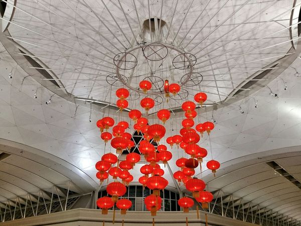 Luck Chinese New Year Red Lantern Colour Of Life Hanging