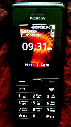Got acellphone..haha Back to basic.. :D Nokia107 Ooredoo Black Red&yellow Canoncamera Basic Smartphone