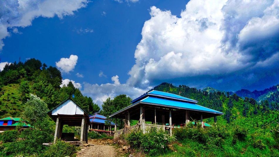 Amazing Pakistan Beauty In Nature Blue Blue Roof House Cloud Cloud - Sky Cloudy Landscape Mountain Non-urban Scene Remote Sky Tranquil Scene Tranquility