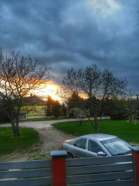 Yesterday's sunset 🌆 Taking Photos Check This Out Hello World Spring Volvo Volvos60 Volvocars Nature Nature Photography Sky Skyhunter Skyporn Clouds Cloudscape Cloudsporn Like4like Follow4follow Sunset Sunsets Sunset_captures HDR Myvillage Street Countryside Trees