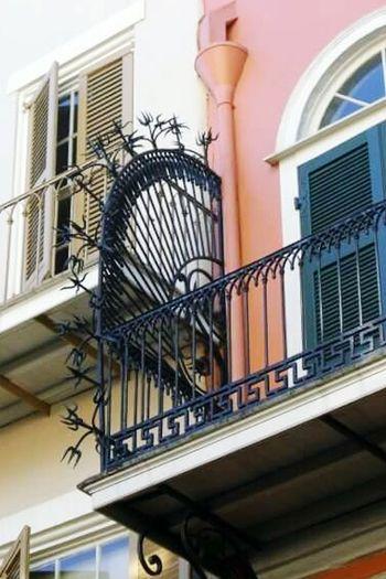 New Orleans, LA Wrought Iron Design Balcony French Quarter