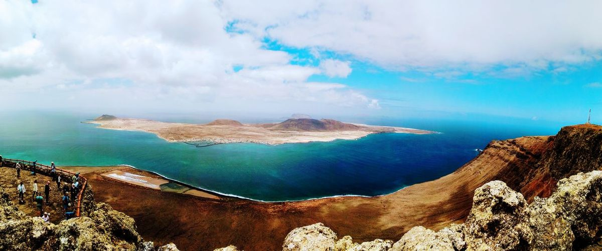 isla graciosa Isla Buenas Vistas Azul Intenso Isla Graciosa Islas Canarias Water Sea Beach Sand Mountain Rock - Object Sky Landscape Cloud - Sky Horizon Over Water