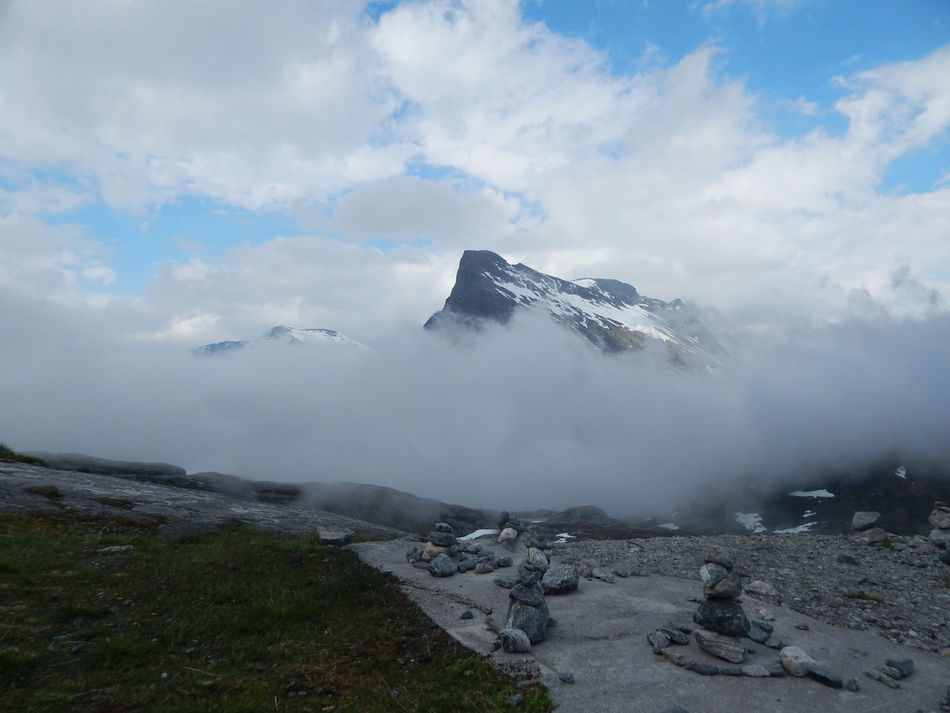 Adventure Beauty In Nature Cloud - Sky Clouds And Sky Hiking Landscape Mountain Mountain Peak Mountain Range Nature No People Non-urban Scene Norge Norway Norwegen Outdoors Scenics Sky Snow Tourism Tranquility Travel Destinations Trollstigen Vacations