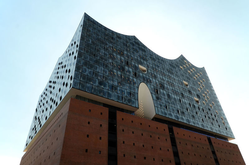 Opening soon Architecture Big Building Brick And Glass Building Exterior Elbphilharmonie Low Angle View Modern