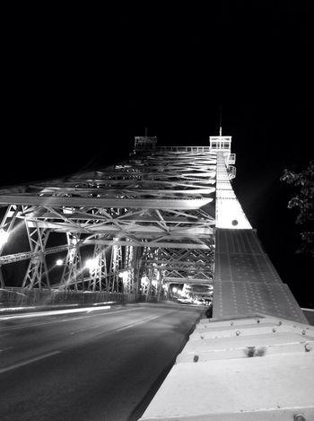 Nightphotography Blackandwhite Bridge