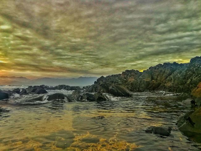 Tide Cloud - Sky Nature Beauty In Nature Sky Sunset Scenics No People Tranquility Outdoors Landscape Beach Sea