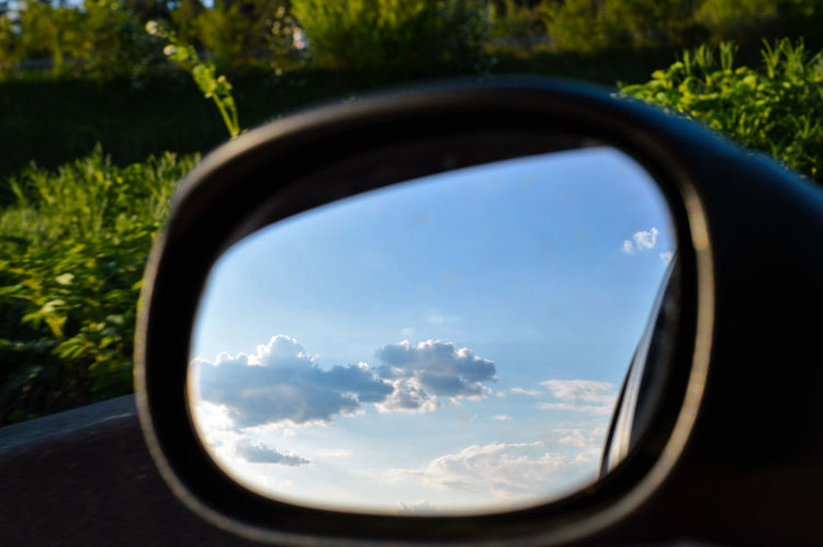 What to do if there's a traffic jam... Mirror Mirrored Mirror Picture Reflection Reflections Reflection_collection Car By Car Traffic Jam Sky Sky And Clouds Sky_collection Clouds And Sky Cloud - Sky Clouds Close-up Close Up On The Road Beauty In Nature Occasional Photography The Great Outdoors - 2016 EyeEm Awards Nikon Germany Naturelovers Mein Automoment