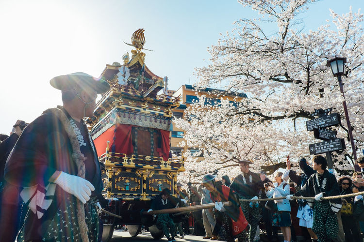 Capital Cities  City Crowd Cultures Day Famous Place History Japan Japanese Culture Kagura Leisure Activity Lifestyles Low Angle View Matsuri Outdoors Samurai Sky Temple - Building Tourism Travel Destinations